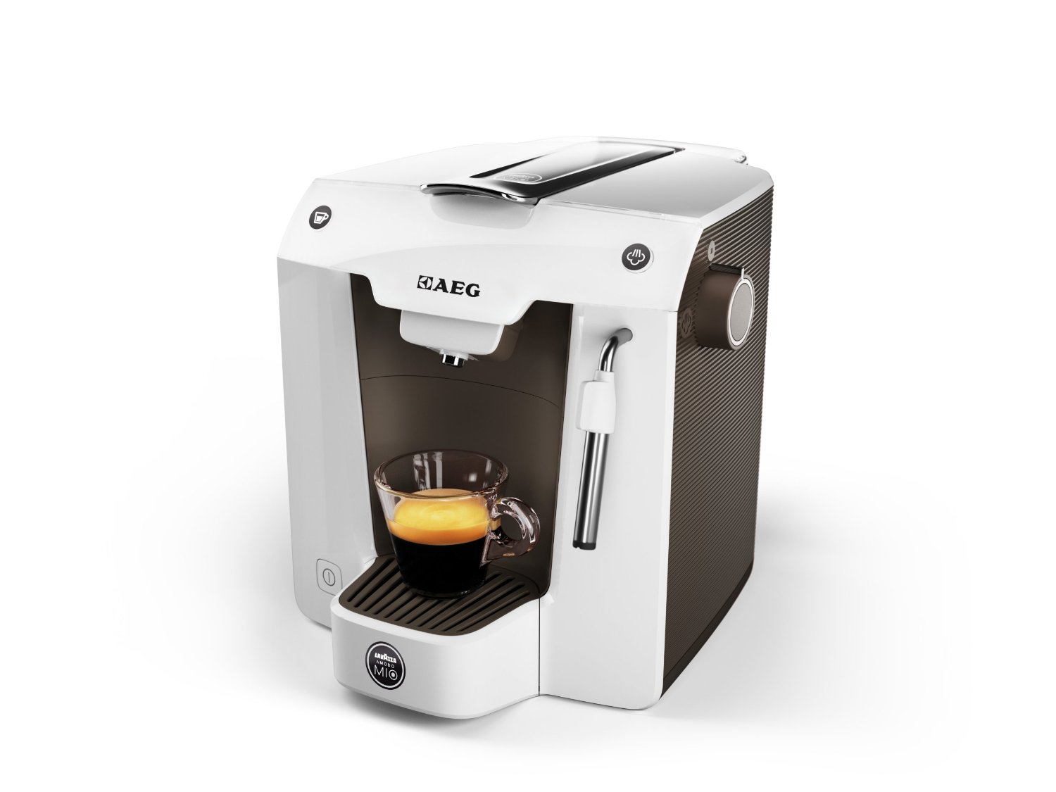 Aeg A Modo Mio Favola Lavazza Coffee Pod Machine Brownwhite