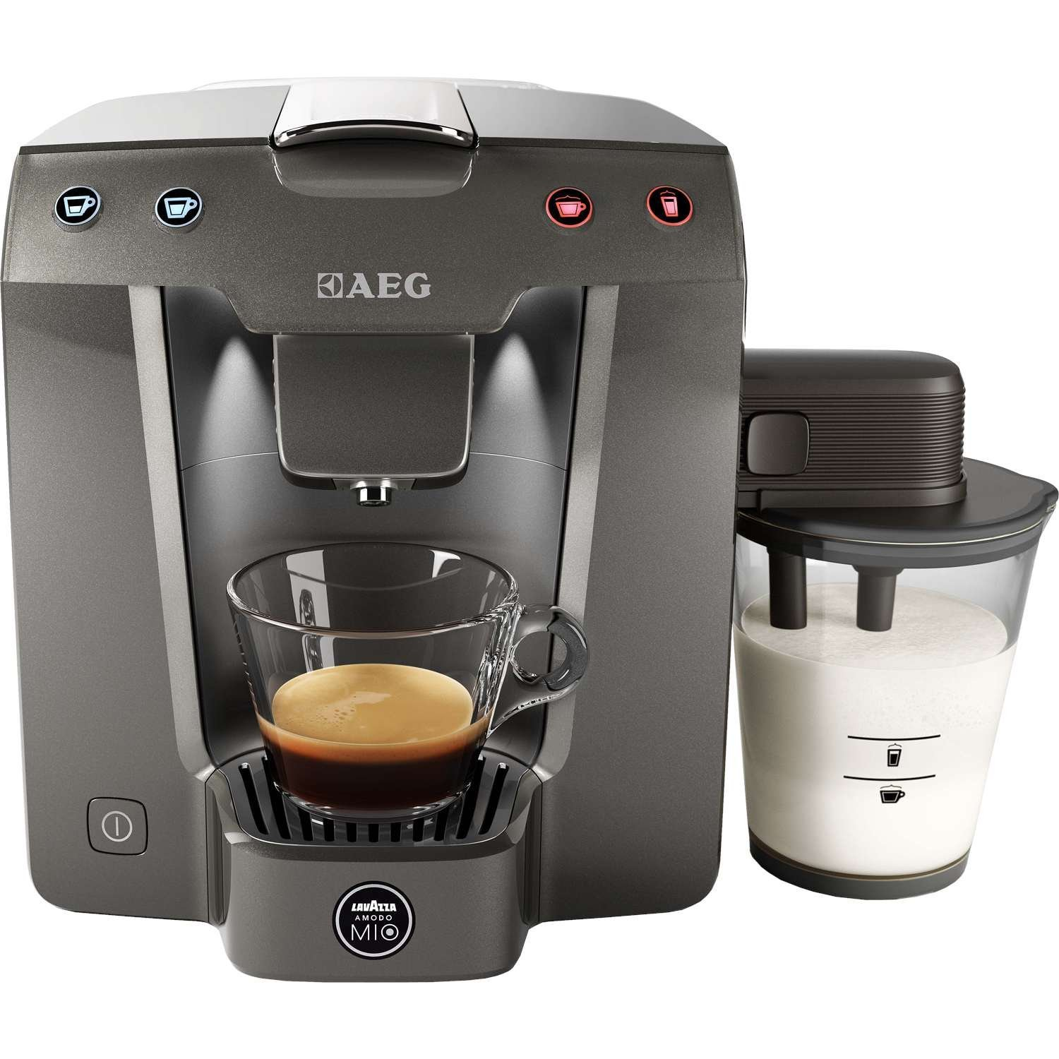 How To Use Lavazza Coffee Maker : AEG Lavazza A Modo Mio Favola Cappuccino Pod Machine